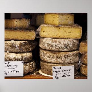 職人の地方フランスのなチーズ ポスター