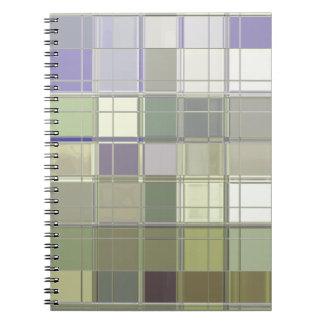 職人はタイルのモザイクカスタムのノートを着色します ノートブック