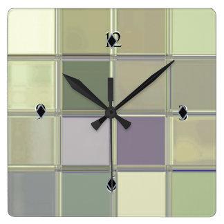 職人デジタル芸術のお洒落なアクリルのカスタムな時計 スクエア壁時計