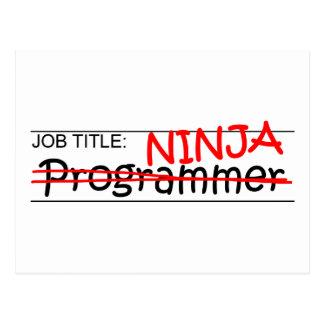 職名の忍者-プログラマー 葉書き