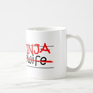 職名の忍者-主婦 コーヒーマグカップ