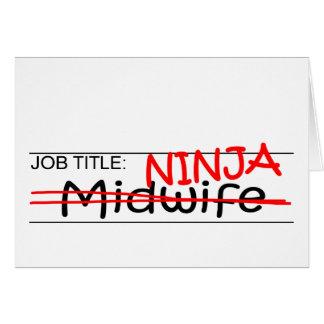 職名の忍者-助産婦 カード