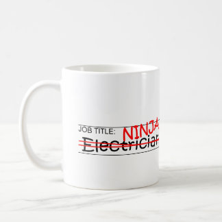 職名の忍者-電気技師 コーヒーマグカップ