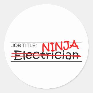 職名の忍者-電気技師 ラウンドシール