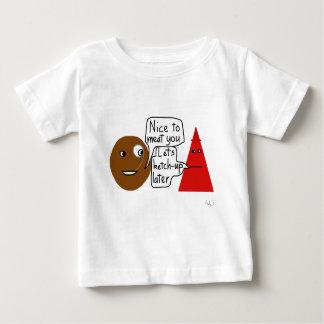 肉およびケチャップのワイシャツ ベビーTシャツ