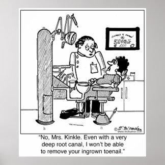 肉に食い込んだ足指の爪を取除く深い根管か。 ポスター