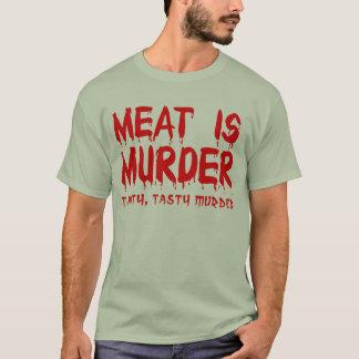 肉は殺害のおもしろTシャツのユーモアです Tシャツ