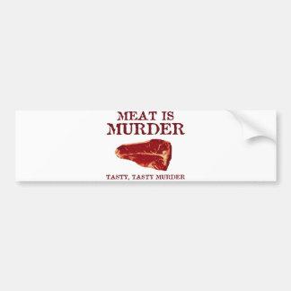 肉は風味がよい殺害です バンパーステッカー