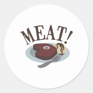 肉ステーキ ラウンドシール