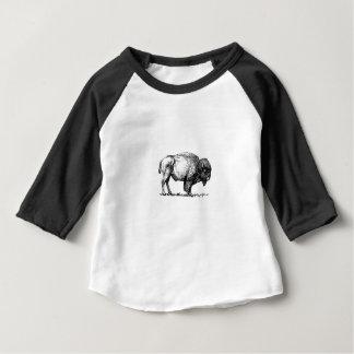 肉付きがよいい水牛の雄牛 ベビーTシャツ