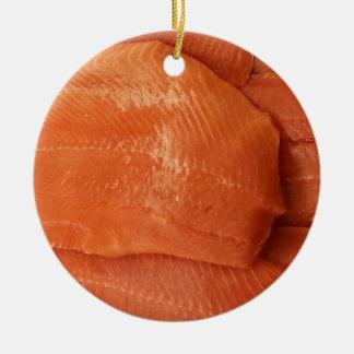 肉付けされたサケ セラミックオーナメント