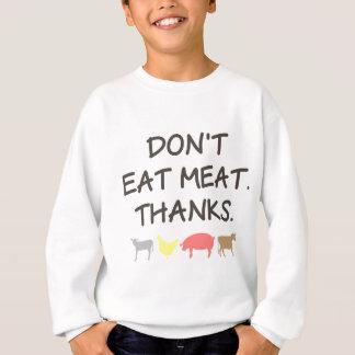 肉動物権の引用文を食べないで下さい スウェットシャツ
