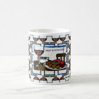 肉及びポテトのマグ コーヒーマグカップ