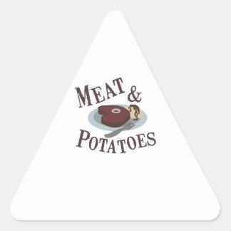 肉及びポテト 三角形シール
