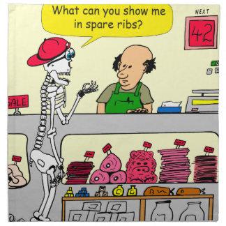 肉屋および予備肋骨の漫画の932骨組 ナプキンクロス