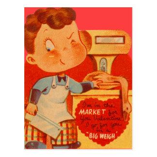肉屋のおもしろいなバレンタインカード ポストカード