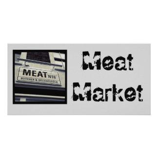 肉屋の郵便はがき カード