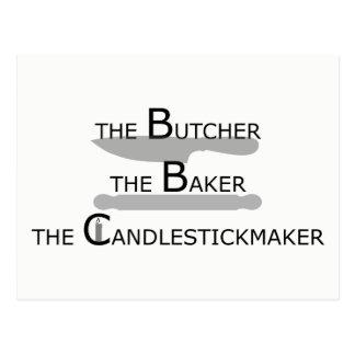 肉屋パン屋Candlestickmaker ポストカード