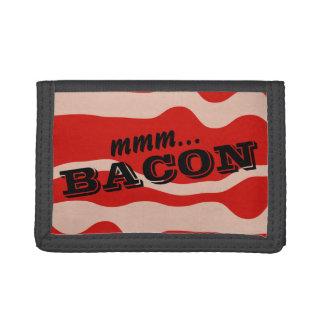 肉恋人のためのおもしろいな薄切りベーコンの札入れ ナイロン三つ折りウォレット