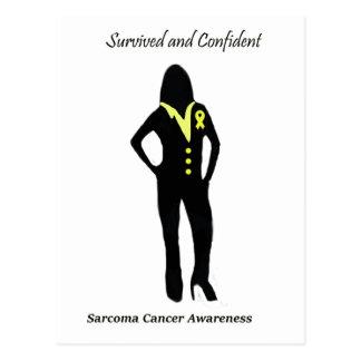 肉腫の女性プロフェッショナル ポストカード