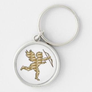 肋骨で補強されるキーホルダーのキューピッドの金ゴールド キーホルダー