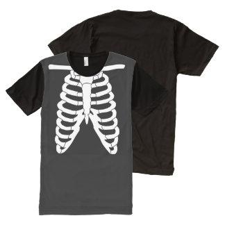 肋骨 オールオーバープリントT シャツ