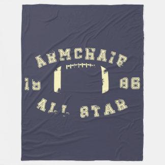 肘掛け椅子オールスターのフットボール フリースブランケット