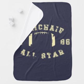 肘掛け椅子オールスターのフットボール ベビー ブランケット