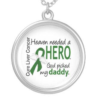 肝臓癌の天国は英雄のお父さんを必要としました シルバープレートネックレス