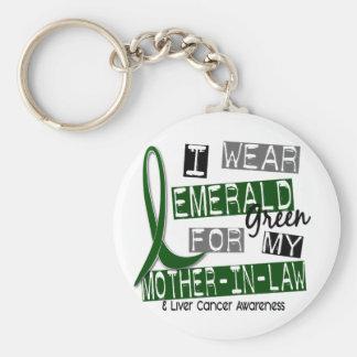 肝臓癌私は私の義母のためのエメラルドを身に着けています キーホルダー