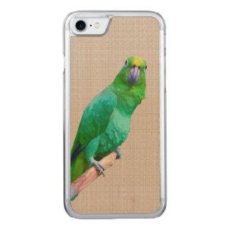 肢の緑のコンゴウインコのオウム CARVED iPhone 8/7 ケース