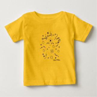 肯定的に前向きなベビーのワイシャツ ベビーTシャツ