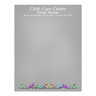 育児の黒板はレターヘッドをクレヨンで彩色します レターヘッド
