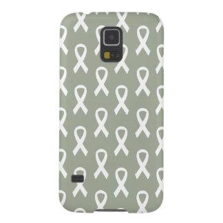肺癌の白いリボンの電話箱 GALAXY S5 ケース