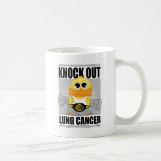 肺癌をノックアウトして下さい コーヒーマグカップ