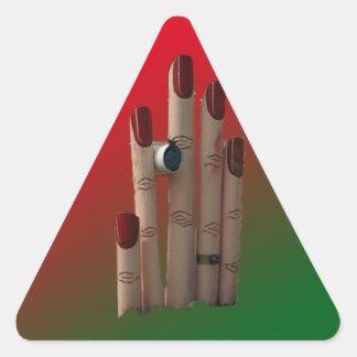 背景が付いているユニークなポスト 三角形シール