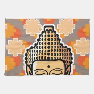 背景とのベクトル仏のヘッド金 キッチンタオル