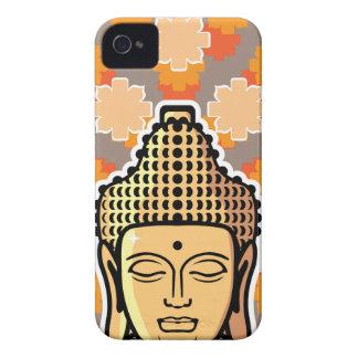 背景とのベクトル仏のヘッド金 Case-Mate iPhone 4 ケース