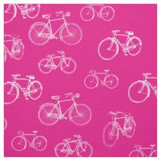 背景のあなたの選択のレトロの自転車 ファブリック