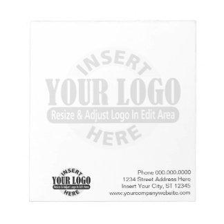背景のビジネスロゴと基本 ノートパッド