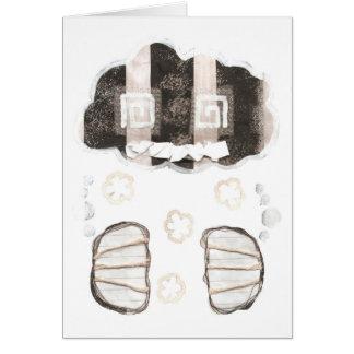 背景の挨拶状無しの雲の刑務所 カード