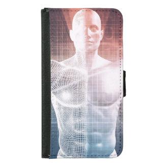 背景の芸術として医学の技術ソフトウェア GALAXY S5 ウォレットケース
