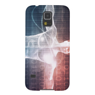 背景の芸術として医学の技術ソフトウェア GALAXY S5 ケース