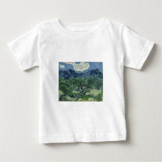 背景のAlpillesのオリーブ ベビーTシャツ