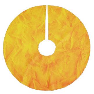 背景文書の質-オレンジ黄色 ブラッシュドポリエステルツリースカート