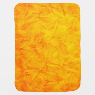 背景文書の質-オレンジ黄色 ベビー ブランケット
