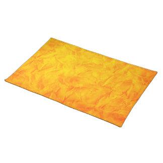 背景文書の質-オレンジ黄色 ランチョンマット