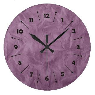 背景文書の質-プラム ラージ壁時計