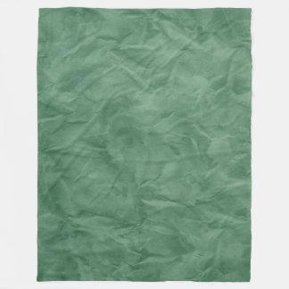 背景文書の質-汚れた緑 フリースブランケット