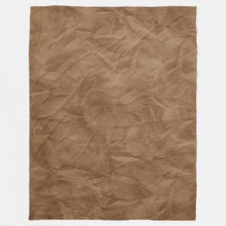 背景文書の質-汚れた茶色 フリースブランケット